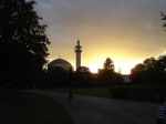 Regent's Park Mosque in London - England (sunset)