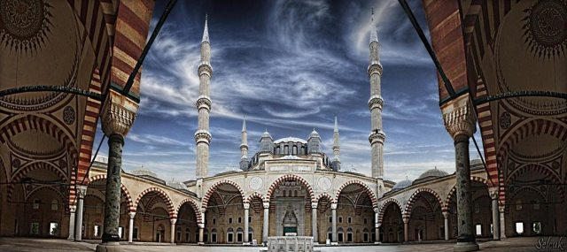 Selimiye Mosque in Edirne – Turkey (panorama)