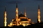 Sultan Ahmed Mosque in Istanbul - Turkey (night)