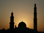 Sultan Qaboos Grand Mosque in Muscat -  Oman (sunset)