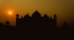 Taj Mahal Mosque in Agra - India (sunset)